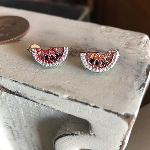 Jewelry - Watermelon Rhinestone Earrings